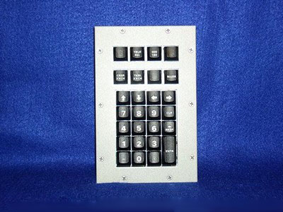 Cortron Model KP27 Keypad No Pointing Dev  Backlit Panel Mount Enclosure
